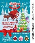 christmas holiday fair  santa... | Shutterstock .eps vector #1508743916