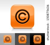 copyright icon orange color...