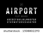 airport flip board panel style... | Shutterstock .eps vector #1508802293