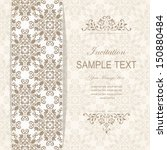 wedding card or invitation with ... | Shutterstock .eps vector #150880484