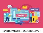 internet blocking symbolic...   Shutterstock .eps vector #1508808899