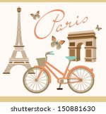paris with love | Shutterstock .eps vector #150881630