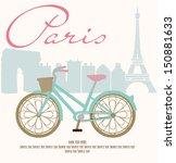 paris with love   Shutterstock .eps vector #150881633
