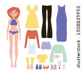 paper doll game clothing set... | Shutterstock .eps vector #1508835953