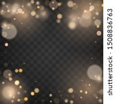 izolated bright bokeh effect on ... | Shutterstock .eps vector #1508836763