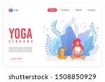 yoga classes flat vector... | Shutterstock .eps vector #1508850929