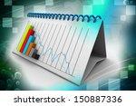 calendar with growing chart | Shutterstock . vector #150887336