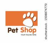 pet shop or store signboard  ... | Shutterstock .eps vector #1508874770