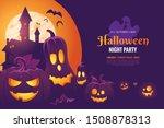 halloween night party...   Shutterstock .eps vector #1508878313