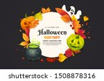 halloween poster with autumn... | Shutterstock .eps vector #1508878316