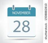 november 28   calendar icon  ... | Shutterstock .eps vector #1508882810