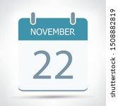 november 22   calendar icon  ... | Shutterstock .eps vector #1508882819