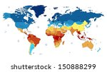 detailed vector world map of... | Shutterstock .eps vector #150888299