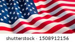 Waving Flag Of United States  ...