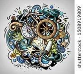 nautical 3d cartoon doodle... | Shutterstock . vector #1508919809