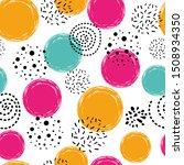 Cute Seamless Pattern Polka Dot ...
