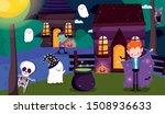kids costume trick or treat...   Shutterstock .eps vector #1508936633