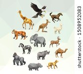 zoo animal low poly logo icon... | Shutterstock .eps vector #1508952083