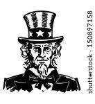 uncle sam 3   retro clip art... | Shutterstock .eps vector #150897158