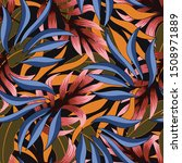 seamless tropical pattern with... | Shutterstock .eps vector #1508971889