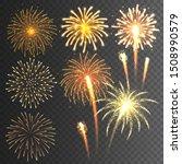festive fireworks collection.... | Shutterstock .eps vector #1508990579