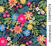 amazing seamless floral pattern ... | Shutterstock .eps vector #1508992376