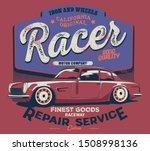 vector car illustration poster... | Shutterstock .eps vector #1508998136