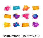 bright abstract badges set.... | Shutterstock .eps vector #1508999510