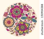 floral illustration   Shutterstock .eps vector #150904388