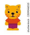 flat kawaii cat character for... | Shutterstock .eps vector #1509046010