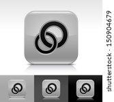 circles icon set. gray glossy...