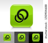 circles icon set. green color...