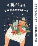 christmas illustration. trendy... | Shutterstock .eps vector #1509047813