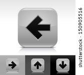 arrow icon set. gray color...