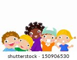 five boys and girls | Shutterstock .eps vector #150906530