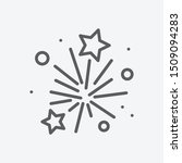 fireworks icon line symbol....