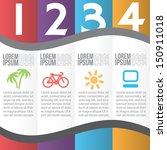 four steps for infographics... | Shutterstock .eps vector #150911018
