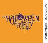 halloween party vector logo... | Shutterstock .eps vector #1509128699