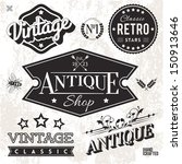 vector collection of vintage... | Shutterstock .eps vector #150913646