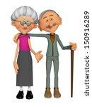 grandparents 3d | Shutterstock . vector #150916289