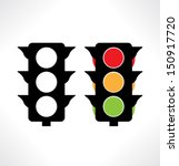 traffic light icons. vector. | Shutterstock .eps vector #150917720