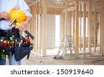 handyman with a tool belt.... | Shutterstock . vector #150919640