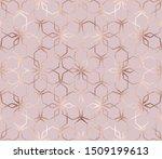 geometric rose gold glitter... | Shutterstock .eps vector #1509199613