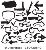 vector hand drawn arrows icons... | Shutterstock .eps vector #150920540