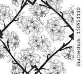 elegant seamless pattern with... | Shutterstock . vector #150921110