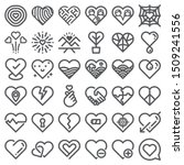 love icons vector. heart shape...