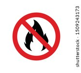 no fire  flame  make fire... | Shutterstock .eps vector #1509243173