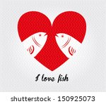 i love fish over dotted...   Shutterstock .eps vector #150925073