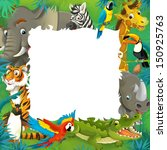 Cartoon Safari   Jungle   Frame ...