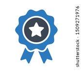 badge glyph colour vector icon | Shutterstock .eps vector #1509271976